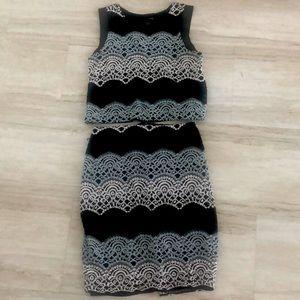 Aqua Skirt Set